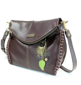 Chala Charming Crossbody - Dark Brown - Owl