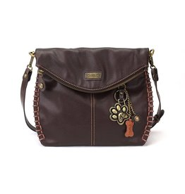 Chala Charming Crossbody - Dark Brown - Paw Print