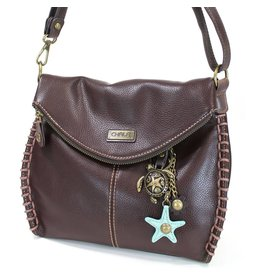 Chala Charming Crossbody - Dark Brown - Sea Turtle