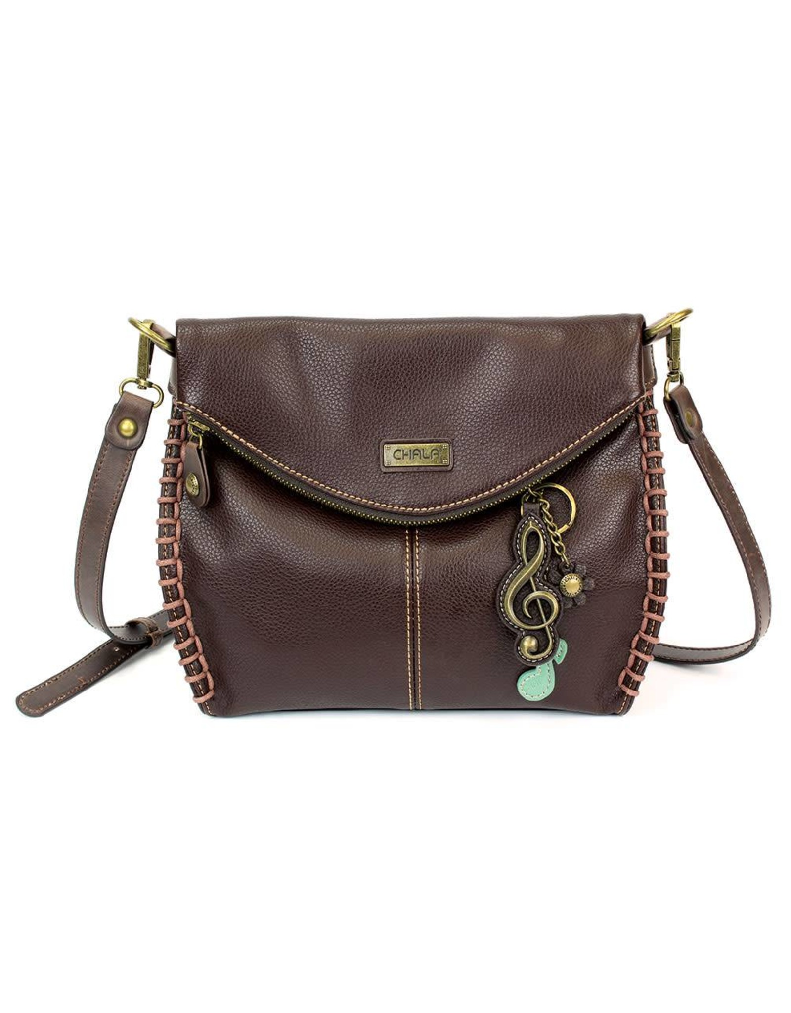 Chala Charming Crossbody - Dark Brown - Treble Clef