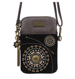 Chala Dazzled Cell Phone Crossbody Black Starburst