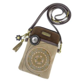 Chala Dazzled Cell Phone Crossbody Brown Starburst