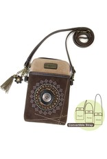 Chala Dazzled Cell Phone Crossbody Dark Brown Starburst