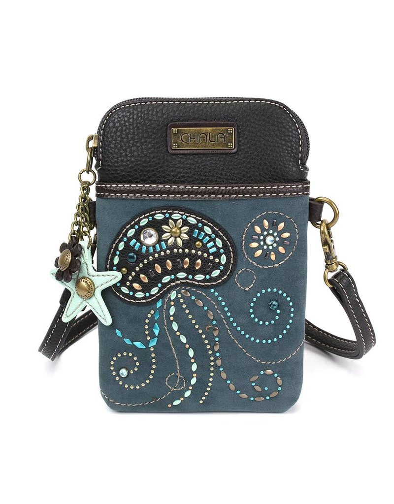 Chala Dazzled Cell Phone Crossbody Jellyfish