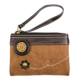 Chala Double Zip Wallet Brown