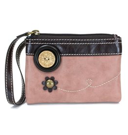 Chala Double Zip Wallet Dusty Rose