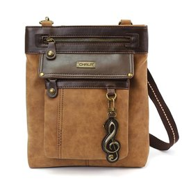 Chala Gemini Crossbody Brown Treble Clef