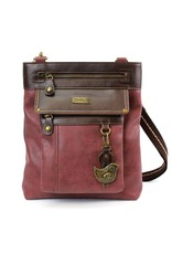 Chala Gemini Crossbody Burgundy Bird