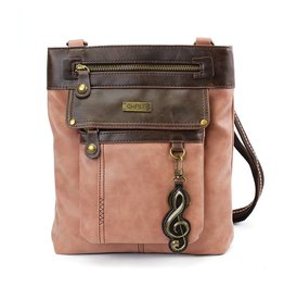 Chala Gemini Crossbody Dusty Rose Treble Clef