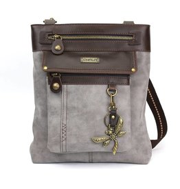Chala Gemini Crossbody Gray Dragonfly