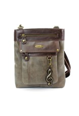 Chala Gemini Crossbody Stone Gray Treble Clef