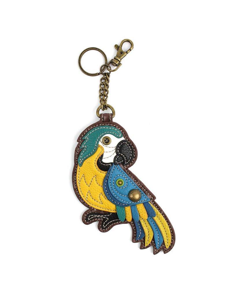 Chala Key Fob Blue Parrot