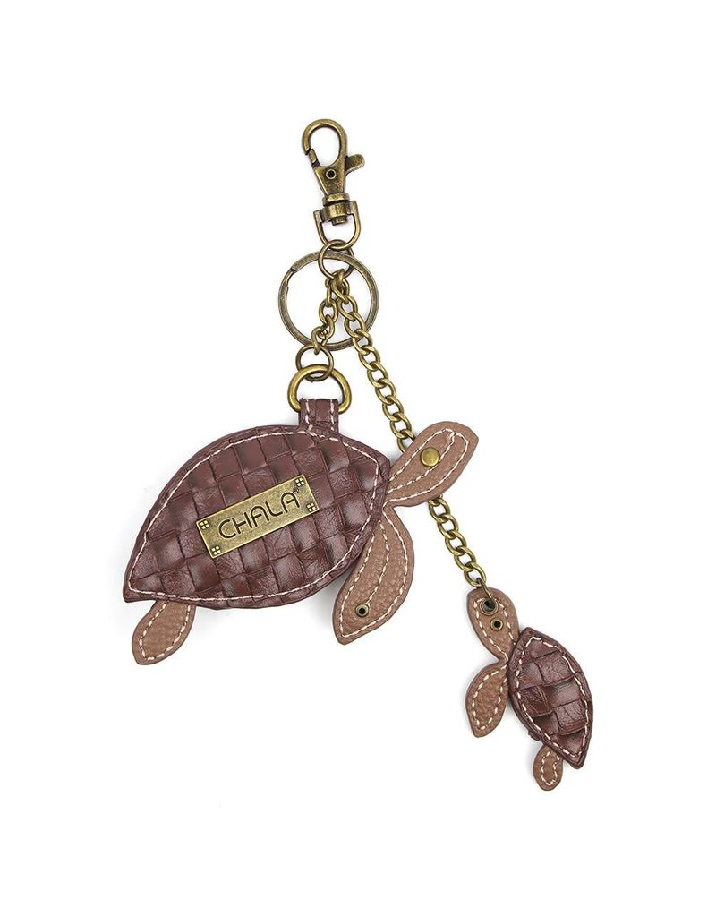 Chala Key Fob Twin Turtles