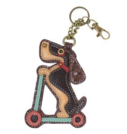 Chala Key Fob Wiener Dog Scooter