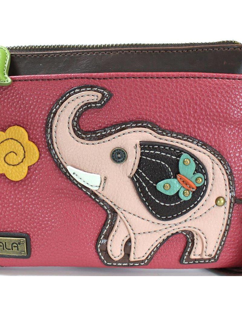 Chala Mini Crossbody Elephant Dark Pink