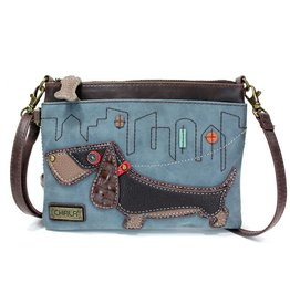 Chala Mini Crossbody Wiener Dog Indigo