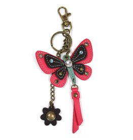 Chala Mini Keychain Butterfly Pink