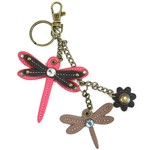Chala Mini Keychain Dragonfly Pink