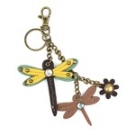Chala Mini Keychain Dragonfly Yellow