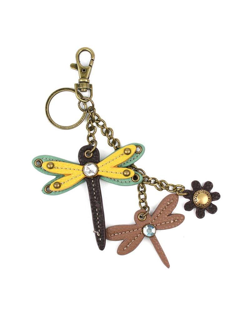 Chala Mini Keychain Dragonfly Yellow