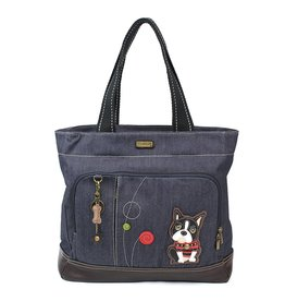 Chala Pocket Tote Boston Terrier