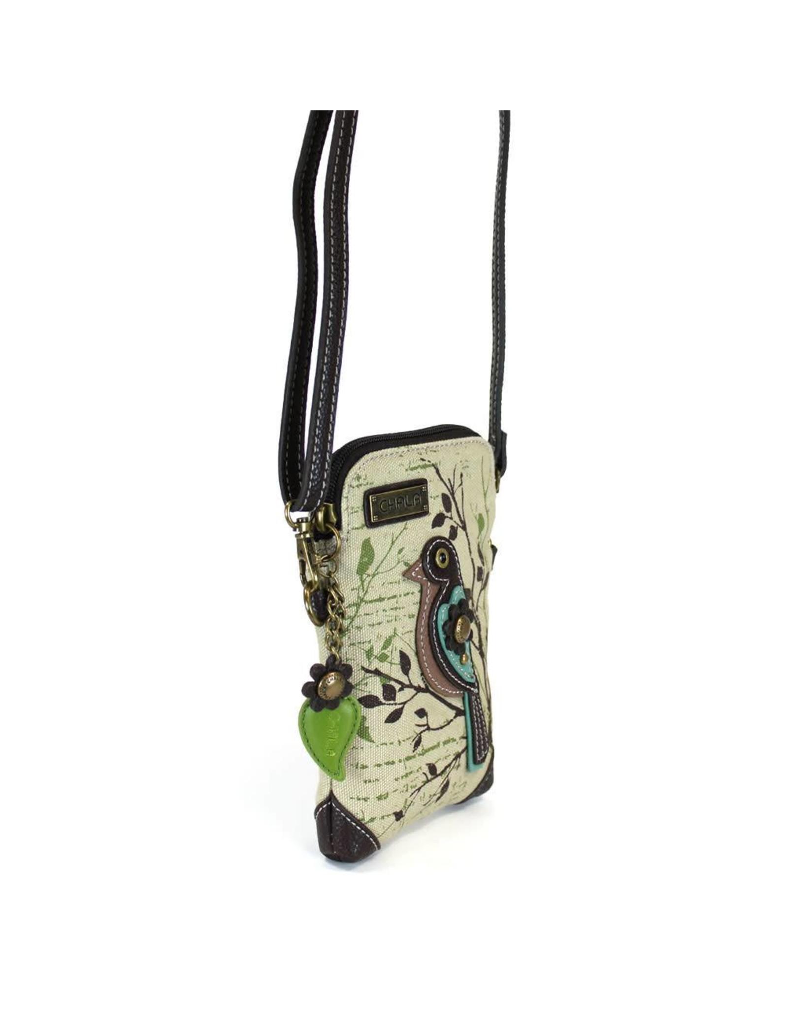 Chala Safari Bird Canvas Cell Phone Crossbody