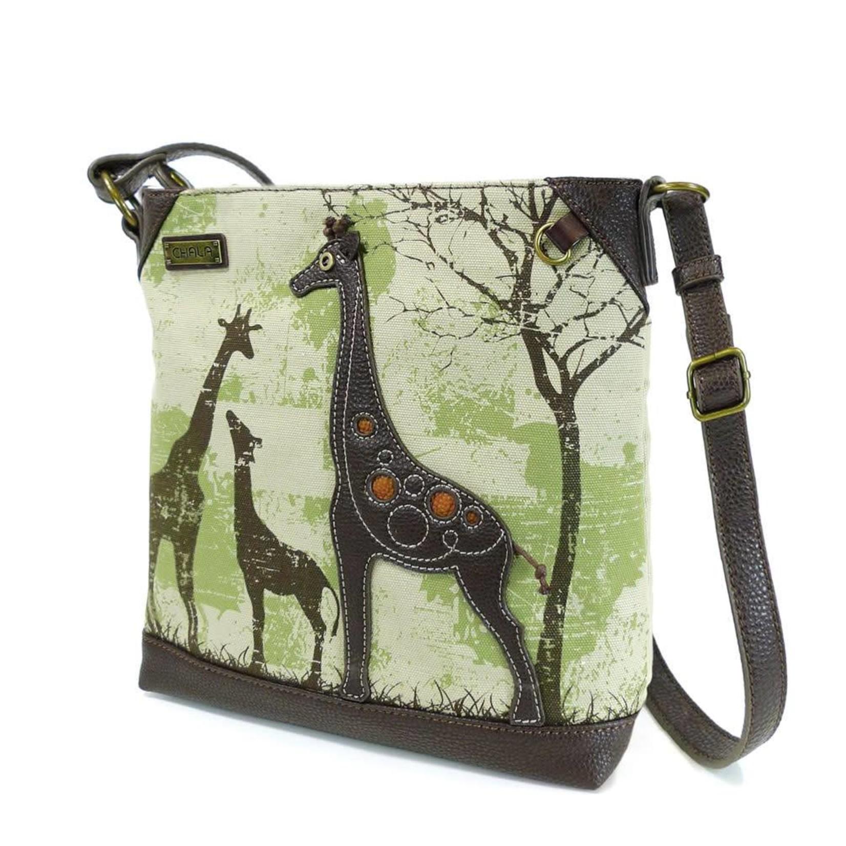 Chala Safari Giraffe Canvas Crossbody