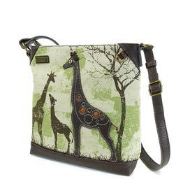 Chala Safari Giraffe Canvas Crossbody