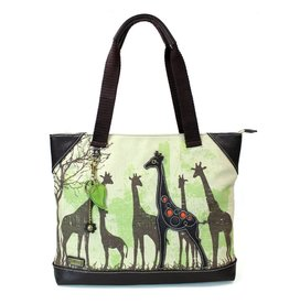 Chala Safari Giraffe Canvas Tote