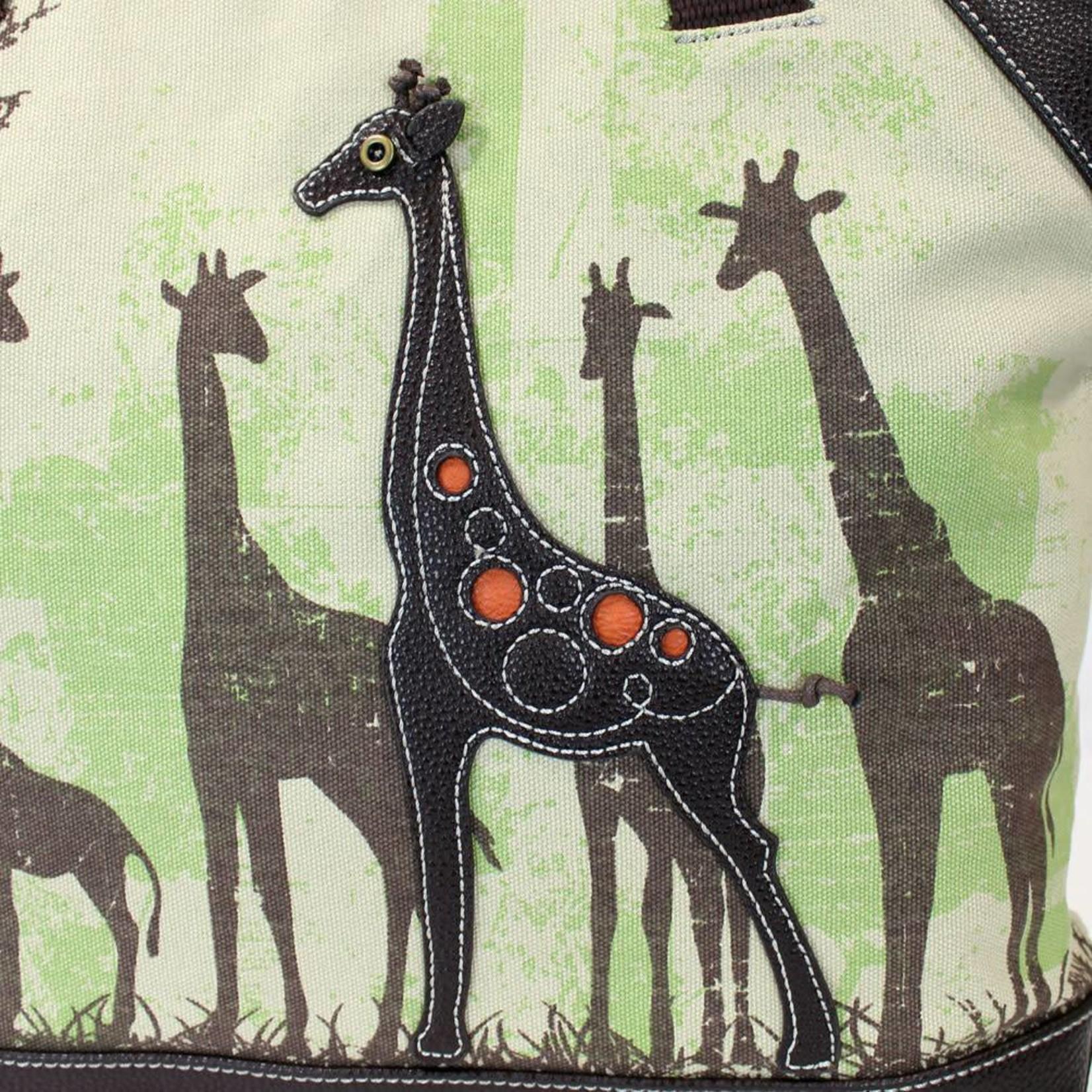 Chala Safari Giraffe Canvas Tote