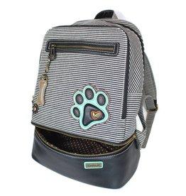 Chala Stripe Backpack Paw Print