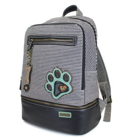 Chala Stripe Backpack Paw Print