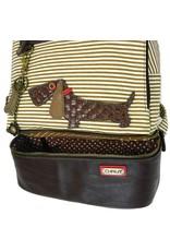 Chala Stripe Backpack Wiener Dog