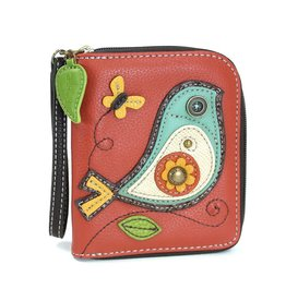 Chala Zip Around Wallet Bird II
