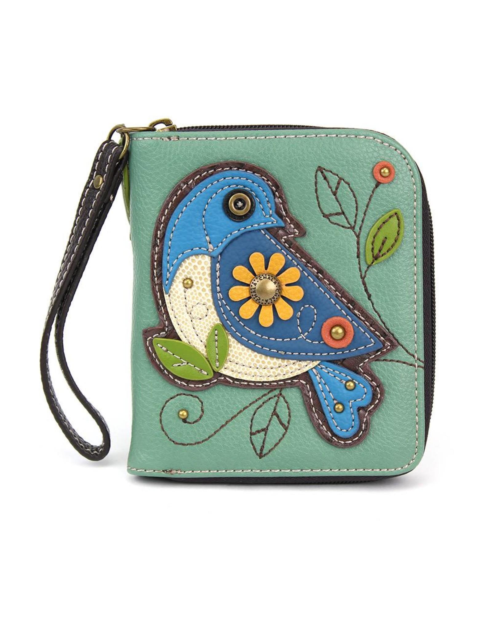 Chala Zip Around Wallet Blue Bird