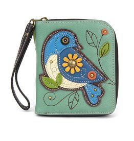 Chala Zip Around Wallet Blue Bird