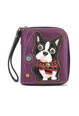 Chala Zip Around Wallet Boston Terrier