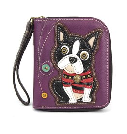Chala Zip Around Wallet Boston Terrier