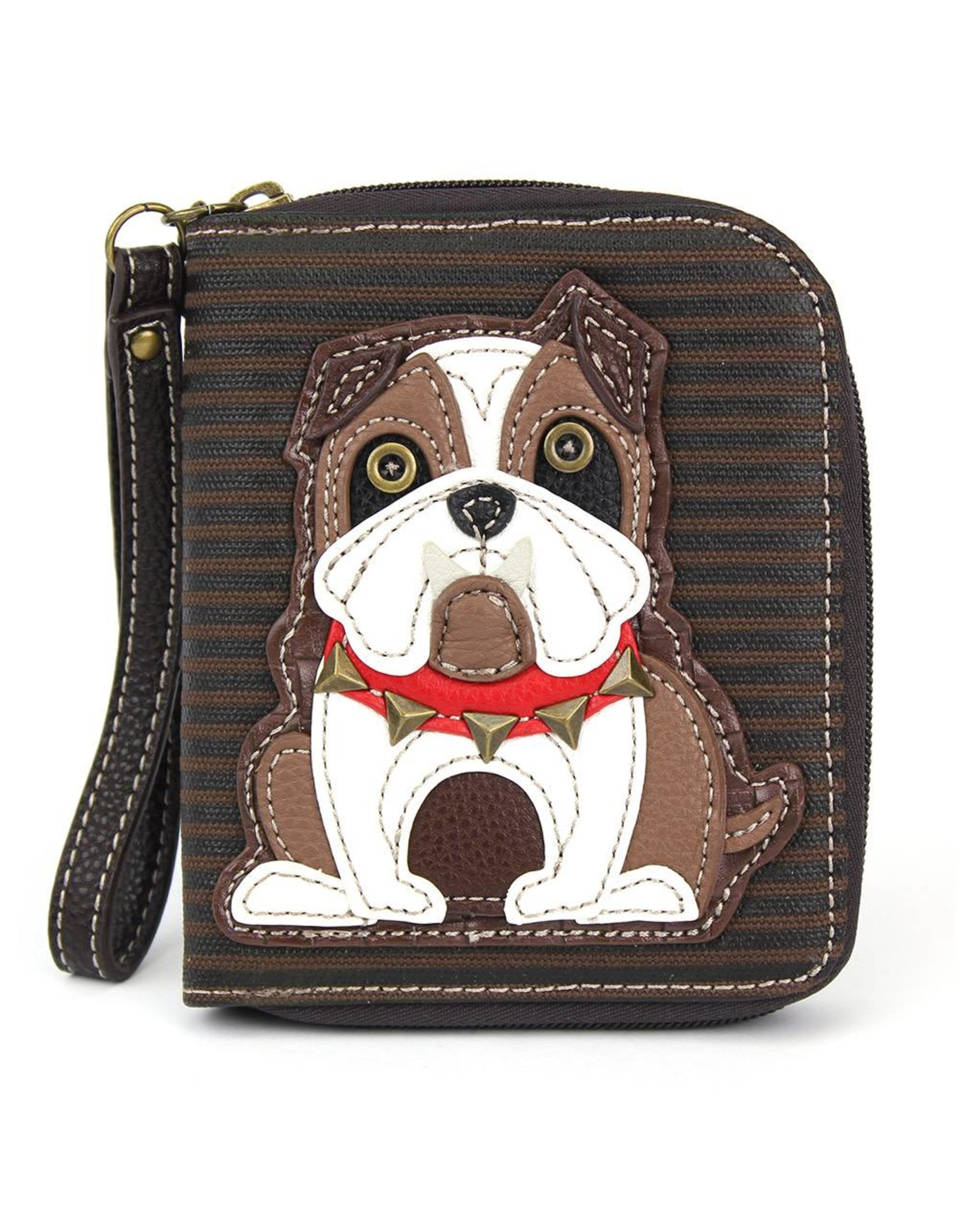 Chala Zip Around Wallet Bulldog