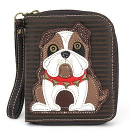 Chala Zip Around Wallet Bulldog