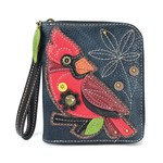 Chala Zip Around Wallet Cardinal
