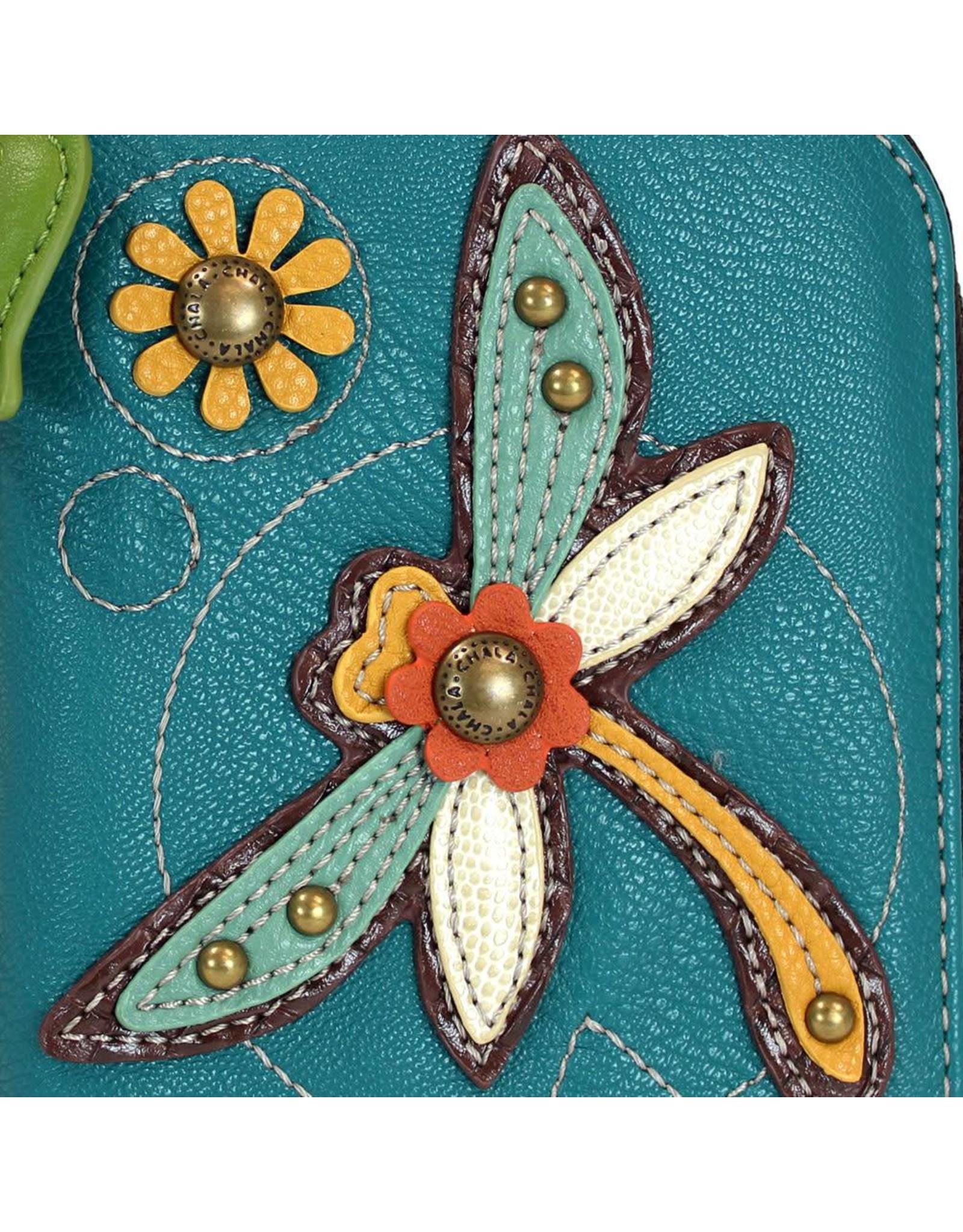 Chala Zip Around Wallet Dragonfly