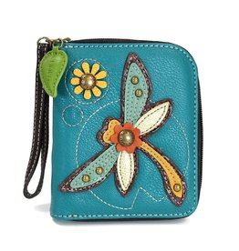Chala Zip Around Wallet Dragonfly