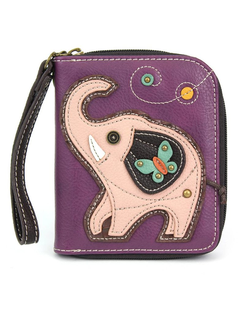 Chala Zip Around Wallet Elephant