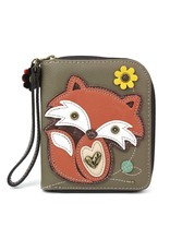 Chala Zip Around Wallet Fox