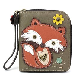 Chala Zip Around Wallet Fox