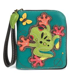 Chala Zip Around Wallet Frog