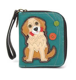 Chala Zip Around Wallet Golden Retriever