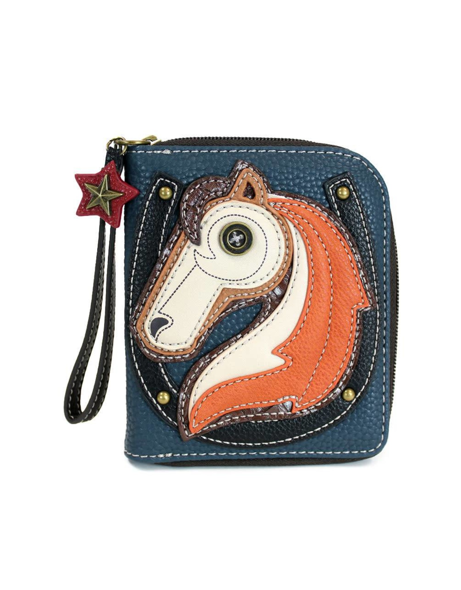 Chala Zip Around Wallet Horse