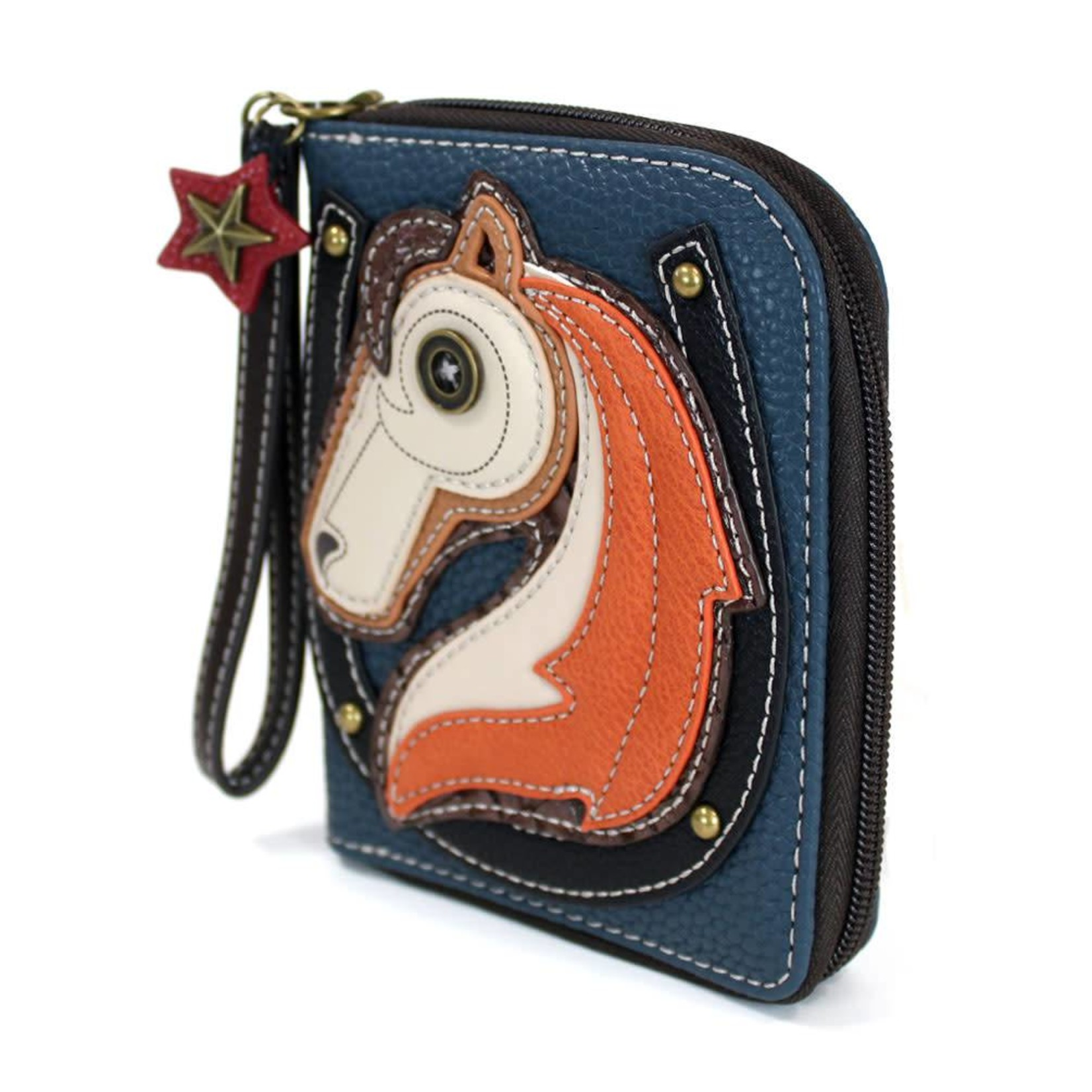 Chala Zip Around Wallet Horse